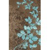 Noble House Dahlia Brown & Turquoise Area Rug