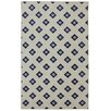Mohawk Home Loop Print Base Button Fleur Blue & Cream Area Rug