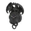 Design Toscano The Celtic Timekeeper Sculptural Dragon Wall Clock in Grey Stone