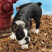 Design Toscano Lifting a Leg Boston Terrier Naughty Dog Figurine