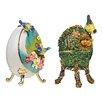 Design Toscano 2 Piece Springtime Faberge Enameled Egg Set