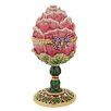 Design Toscano A Garden Rose Treasure Faberge Style Enameled Egg Decorative Sculpture