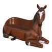 Design Toscano Saddle-Up Horse Bench Sculpture