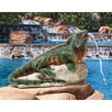 Design Toscano Ike, the Iguana Spitter Piped Statue