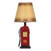 "Design Toscano Retro Gasoline Pump 18.5"" H Table Lamp with Empire Shade (Set of 2)"