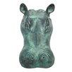 Design Toscano Spitting Hippo Head Cast Garden Statue