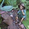 Design Toscano Fish Wish Fisher Boy Cast Garden Statue
