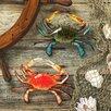 Design Toscano 2 PIece Tropical Crabs Wall Décor Set
