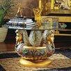 Design Toscano Three Heads of Tutankhamen Sculptural Coffee Table