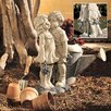 Design Toscano Young Sweethearts Kissing Children Garden Statue