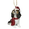 Design Toscano Charles Cavalier Holiday Dog Ornament Sculpture
