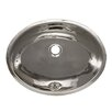 Whitehaus Collection Decorative Undermount Smooth Oval Bathroom Sink