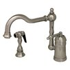 Whitehaus Collection Legacyhaus One Handle Single Hole Kitchen Faucet with Side Spray