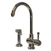 Whitehaus Collection Evolution Colonial One Handle Single Hole Kitchen Faucet with Fluted Side Spray