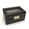 Royce Leather Luxury 3 Slot Watch Jewelry Box in Genuine Leather