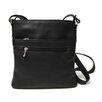 Royce Leather Triple Zip Crossbody Bag