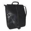 "Royce Leather Genuine Leather Vaquetta 17"" Vertical Laptop Messenger Bag"