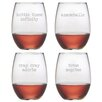 Susquehanna Glass Girl Talk Stemless Wine Glass