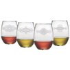 Susquehanna Glass Morocco Stemless Wine Glass (Set of 4)