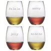 Susquehanna Glass Fa La La Stemless Wine Glass (Set of 4)
