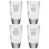 Susquehanna Glass 18 Oz. Owl Assortment Glass (Set of 4)