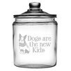 Susquehanna Glass 64 Oz. Dogs are the New Kids Half Gallon Jar with Lid