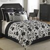 Hallmart Collectibles Ebony and Ivory Comforter Set