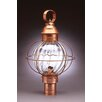 Northeast Lantern Onion 1 Light Caged Round Post Lantern