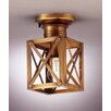 "Northeast Lantern Suffolk 9"" 1 Light Semi Flush Mount"