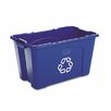 Rubbermaid Commercial Products Stacking 18 Gallon Curbside Recycling Bin