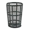 Rubbermaid Commercial Products 48-Gal Steel Street Basket Waste Round Receptacle