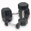 Muscle Driver USA Rubber Coated Hex Dumbbells (Set of 2)
