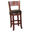 """Sunny Designs Cappuccino 24"""" Swivel Bar Stool with Cushion"""