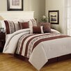 Luxury Home Greek Key 6 Piece Comforter Set