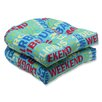 Pillow Perfect Grillin Outdoor Dining Chair Cushion (Set of 2)
