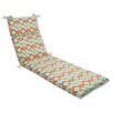 Pillow Perfect Parallel Play Outdoor Chaise Lounge Cushion
