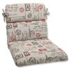 Pillow Perfect Carte Postale Outdoor Lounge Chair Cushion