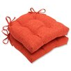 Pillow Perfect Pure Shock Outdoor Dining Chair Cushion (Set of 2)