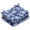 Pillow Perfect Lahaye Indigo Outdoor Dining Chair Cushion (Set of 2)