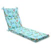 Pillow Perfect Curious Bird Outdoor Chaise Lounge Cushion