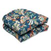 Pillow Perfect Telfair Peacock Outdoor Dining Chair Cushion (Set of 2)