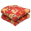 Pillow Perfect Tamariu Alfresco Valencia Outdoor Dining Chair Cushion (Set of 2)