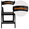 Flash Furniture Hercules Series Personalized Wood Folding Chair with Vinyl Padded Seat