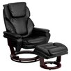 Flash Furniture Contemporary Leather Recliner and Ottoman