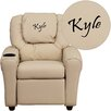 Flash Furniture Kids Personalized Recliner