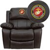 Flash Furniture Personalize Rocker Leather Recliner
