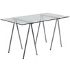 Flash Furniture Glass Top Writing Desk