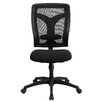 Flash Furniture High-Back Leather Conference Chair with Padded Fabric Seat