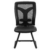 Flash Furniture Mesh Side Chair with Leather Seat and Adjustable Lumbar Support