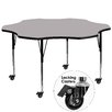 """Flash Furniture Mobile 60"""" Flower Classroom Table"""